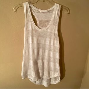 Athleta Sz Small white racerback shirt